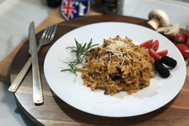 西班牙牛肝菌菇燉飯 2